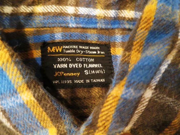 Vintage JCPenney Flannel S スモールサイズ ヴィンテージ ネルシャツ_e0187362_11115525.jpg