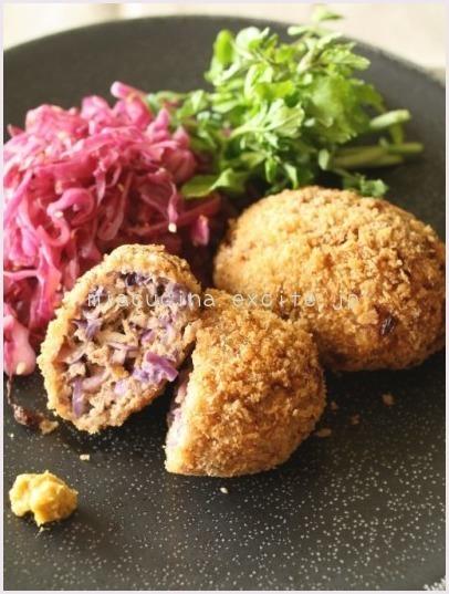 紫キャベツのキャベツメンチ レシピ公開♪_b0107003_17103820.jpg