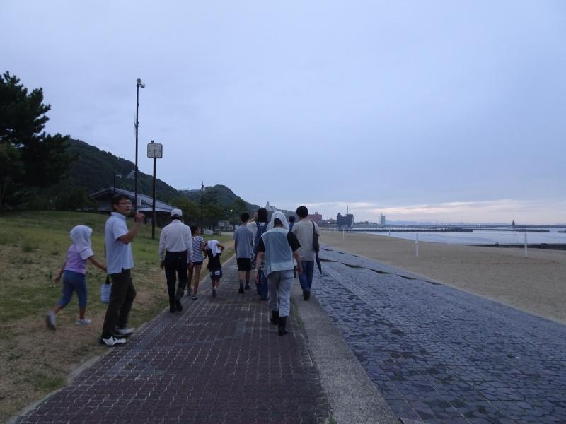ウミホタル観察会リハーサル・・・せんなん里海公園海岸_c0108460_22311155.jpg
