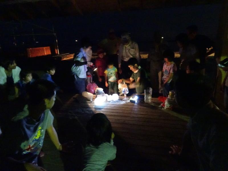 ウミホタル観察会リハーサル・・・せんなん里海公園海岸_c0108460_22375311.jpg