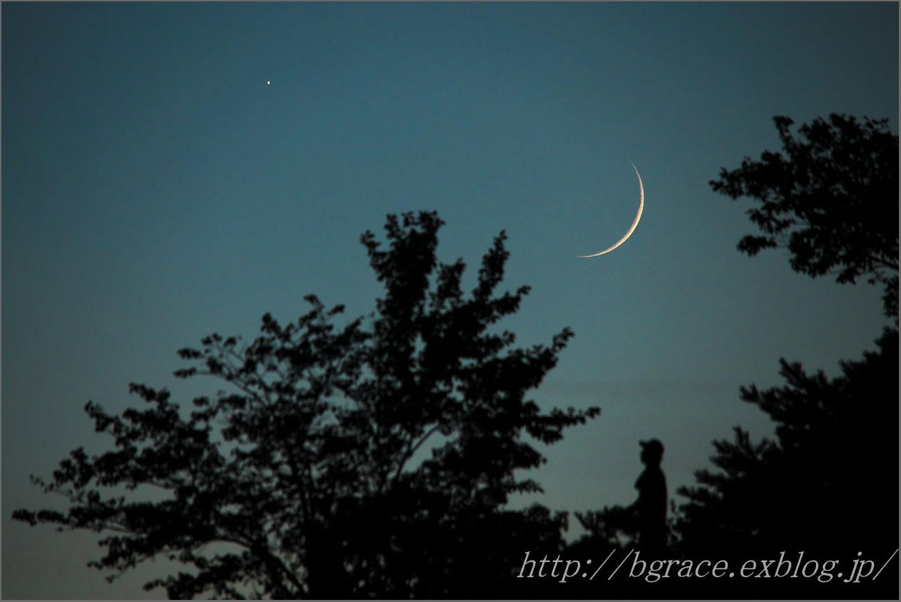 細い月と金星が大接近_b0191074_22241137.jpg
