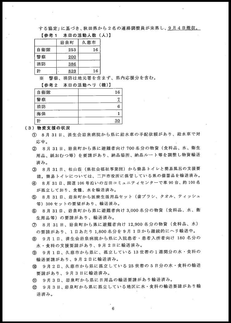 台風10号に伴う岩手県の対応状況について〜9月5日(月)午前6時現在〜_b0199244_1214065.jpg