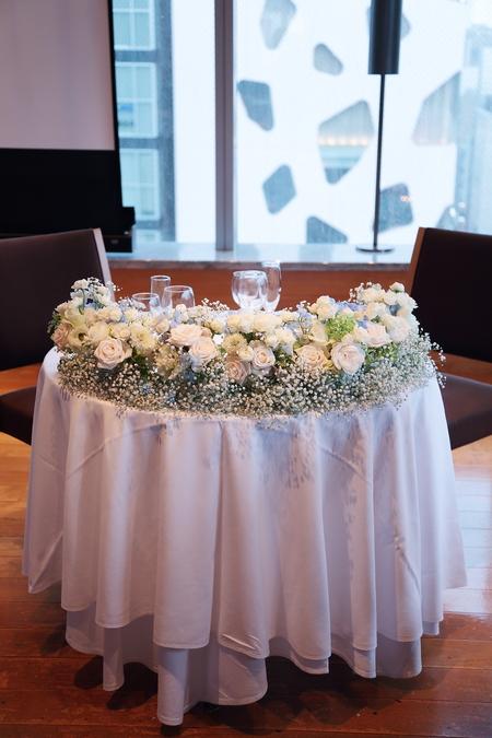 夏の装花 ブラッスリー ポール・ボキューズ銀座様へ  台風の日に_a0042928_14134812.jpg