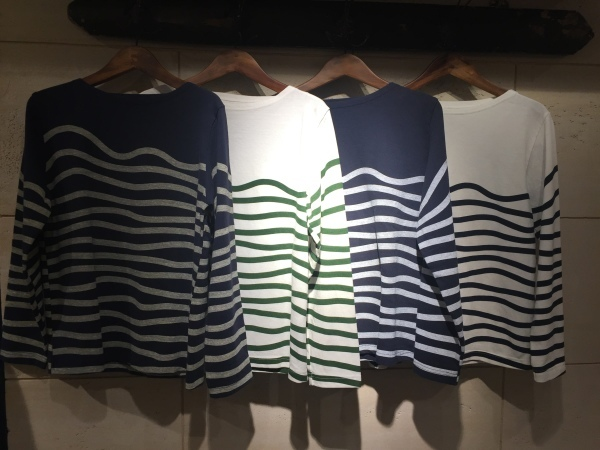 GRANDMA MAMA DAUGHTER chino pleat skirt、KATO`striped top_f0369188_15052930.jpg