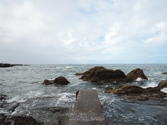 山泰荘の近くの海岸の今朝の様子_c0195909_13143897.jpg