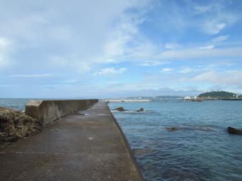 山泰荘の近くの海岸の今朝の様子_c0195909_13144720.jpg