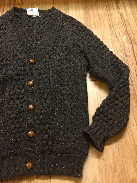 アメリカ仕入れ情報#3 アイルランド製 wool カーディガン!_c0144020_11475616.jpg