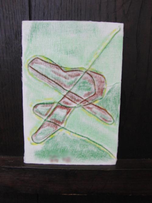 オイルパステル画 ~ アナログフロッタージュ ~_e0222340_17221054.jpg