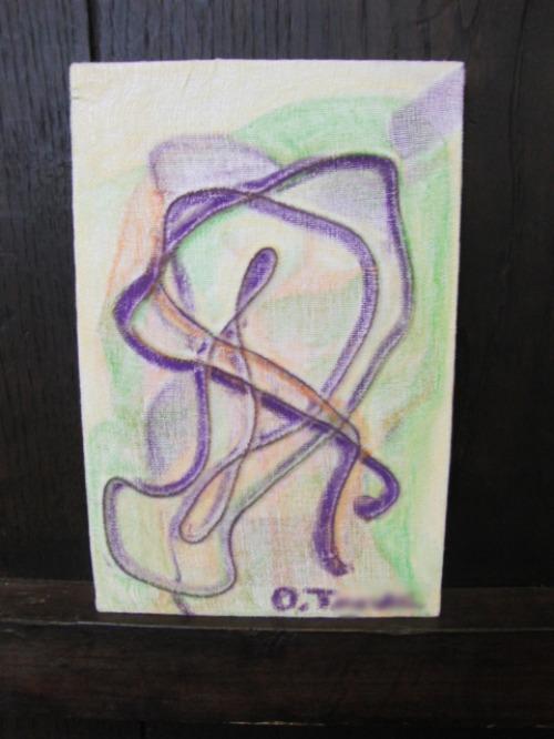 オイルパステル画 ~ アナログフロッタージュ ~_e0222340_1722316.jpg