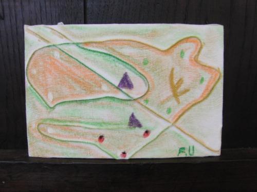 オイルパステル画 ~ アナログフロッタージュ ~_e0222340_1723339.jpg