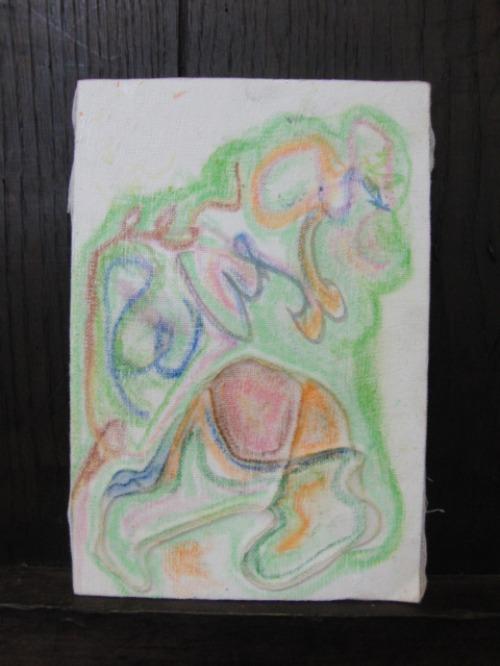 オイルパステル画 ~ アナログフロッタージュ ~_e0222340_17241442.jpg