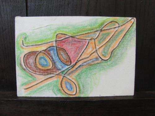 オイルパステル画 ~ アナログフロッタージュ ~_e0222340_17244071.jpg