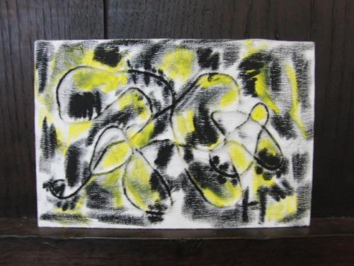 オイルパステル画 ~ アナログフロッタージュ ~_e0222340_17245931.jpg