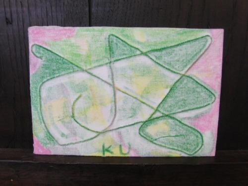 オイルパステル画 ~ アナログフロッタージュ ~_e0222340_17254932.jpg