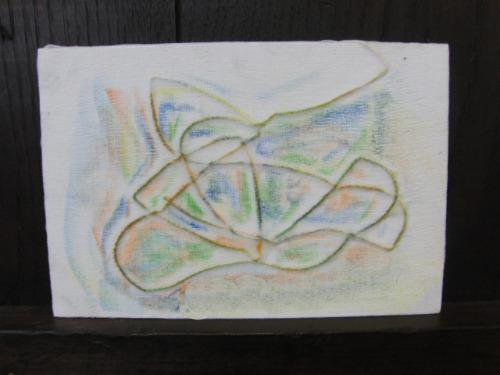オイルパステル画 ~ アナログフロッタージュ ~_e0222340_17262954.jpg