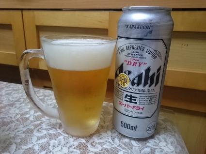 夜勤明けのビールVol.295 アサヒスーパードライロング缶¥252_b0042308_17234317.jpg