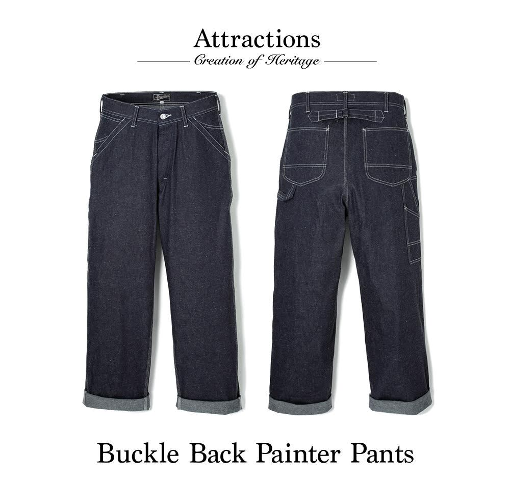 BUCKLE BACK PAINTER PANTS DENIM_c0289919_152083.jpg