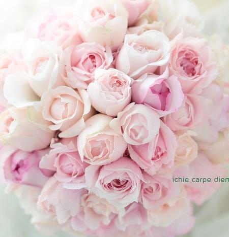 ブーケ ピンクのバラで_a0042928_22445894.jpg