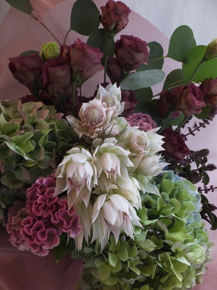 オークリーフ(秋色紫陽花とセルリアと・・)_f0049672_17515564.jpg