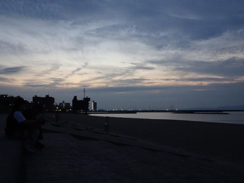 夏のおわりの神秘体験『ウミホタルウオッチング』・・・せんなん里海公園_c0108460_00030442.jpg