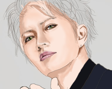 久々にお絵描き ガクトさん・・・_c0036138_0553386.jpg