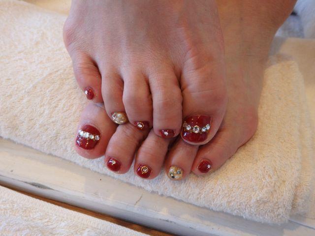 Red Foot Nail_a0239065_12134018.jpg