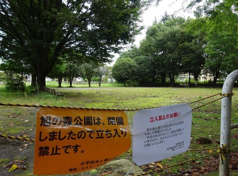 旧旭の森公園(天神町)で大規模水道工事_f0059673_19312048.jpg