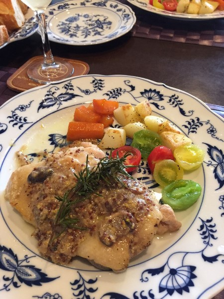 若鶏のグリル エシャロットマスタードソース / Grilled Chicken with Shacllot Mustard Sauce_b0158813_1845403.jpg