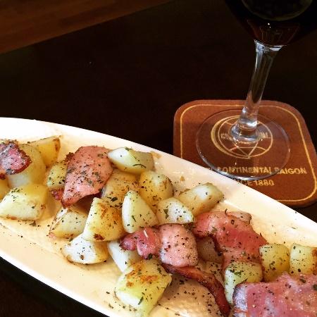 燻製ベーコンのジャーマンポテト / German fried potatoes_b0158813_19154028.jpg