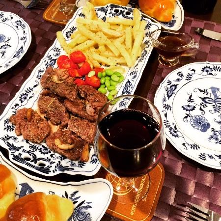 牛肉のタリアータ 手作りフライドポテト添え / Tagliata di Manzo_b0158813_20402553.jpg