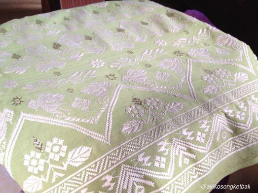 若竹色が印象的なシルクソンケットができました。_a0120328_17290715.jpg