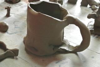 バッグの片面と陶芸教室♪_f0374160_17242235.jpg