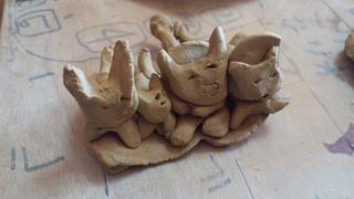 陶芸教室とクリスマスの飾り制作中~♪_f0374160_17243760.jpg