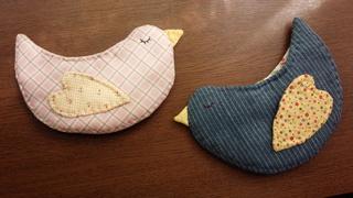 鳥シリーズ*青い鳥のミニポーチ♪_f0374160_17350482.jpg