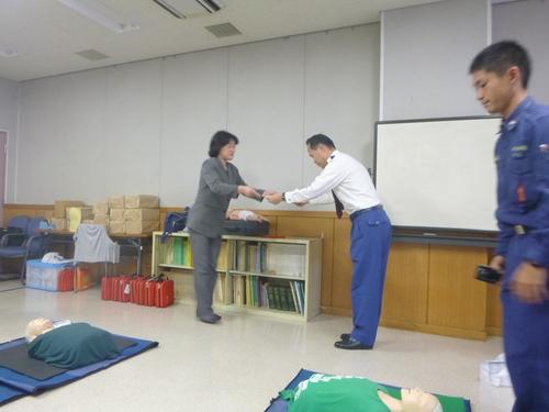 感謝状授与式&普通救命講習会_c0186983_16471294.jpg