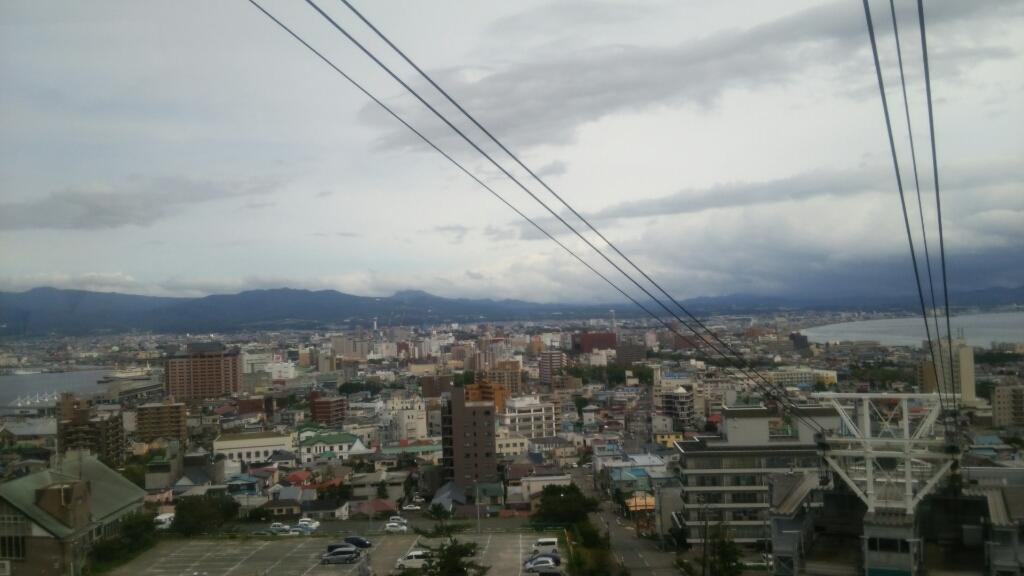2016年9月14日㈬今朝の函館の気温と天気は。函館山から売店にセラピア製品納品_b0106766_06450559.jpg