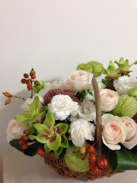お送りのお花と十五夜のレッスンのお花と_f0155431_21074037.jpeg