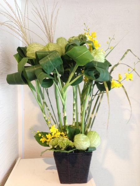 お送りのお花と十五夜のレッスンのお花と_f0155431_21424718.jpeg