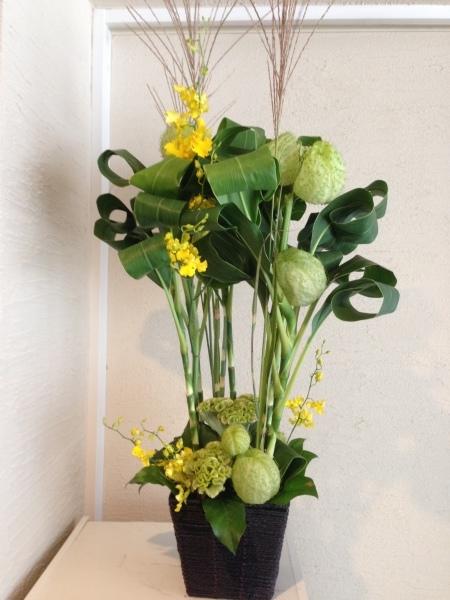 お送りのお花と十五夜のレッスンのお花と_f0155431_21452718.jpeg