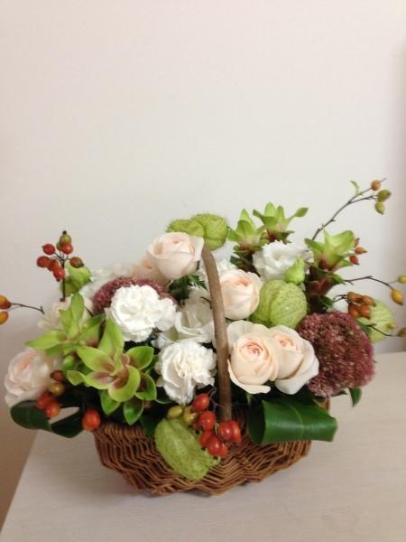 お送りのお花と十五夜のレッスンのお花と_f0155431_22133241.jpeg
