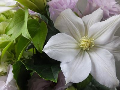 オークリーフ(秋色紫陽花を入れたお悔やみ花)_f0049672_17305893.jpg