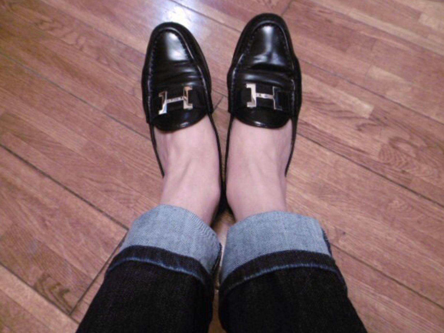madameHの靴の変遷…紐靴とローファー_b0210699_23325099.jpeg