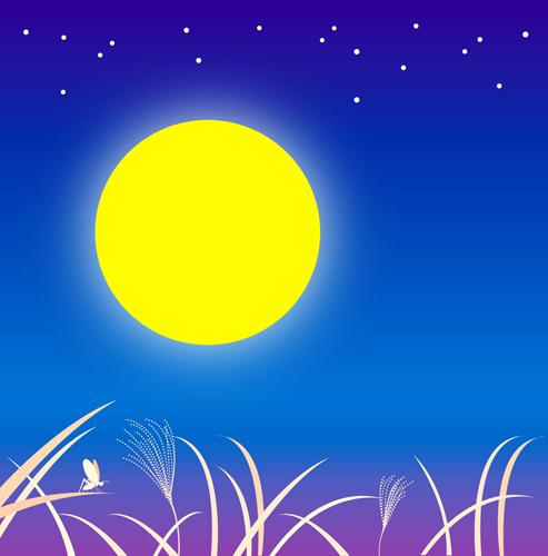 """""""中秋の名月""""を見ながら思い出す、遠いむかしのこと。_e0120614_16254671.jpg"""