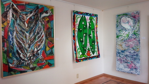 ガラス絵の作品展に行ってきました_f0374160_17270940.jpg