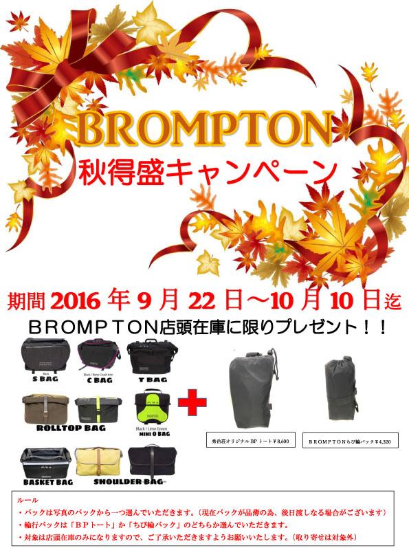 BROMPTON秋得盛キャンペーン!!_d0197762_1942495.jpg