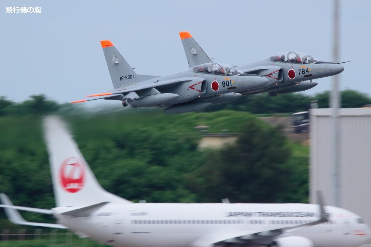 2機同時離陸 T-4  航空自衛隊_b0313338_05244837.jpg