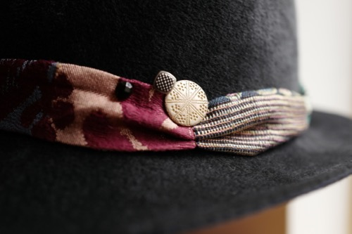 伊勢丹メンズ館レセプション 一点物の帽子_b0129548_19413272.jpg