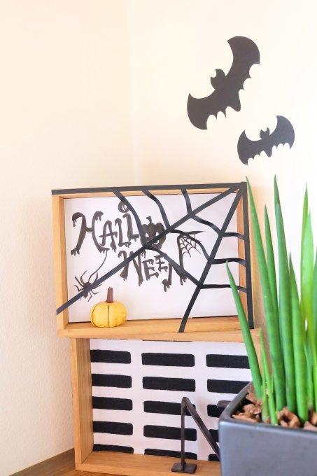 100均のかぼちゃとマステ+コピー用紙で、簡単&かわいいハロウィンインテリア!