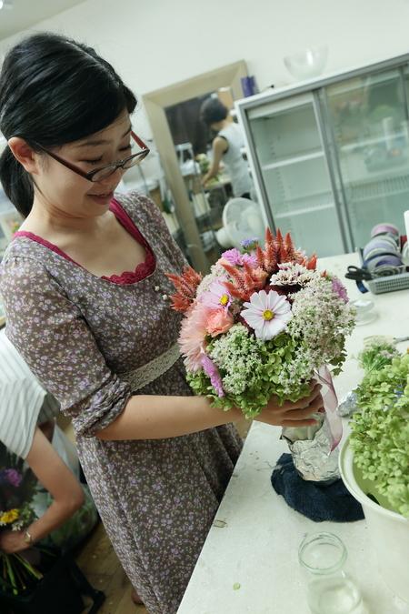 一会定期スクール 9月、秋の花のブーケ 登録生徒さん募集のお知らせ_a0042928_23272390.jpg