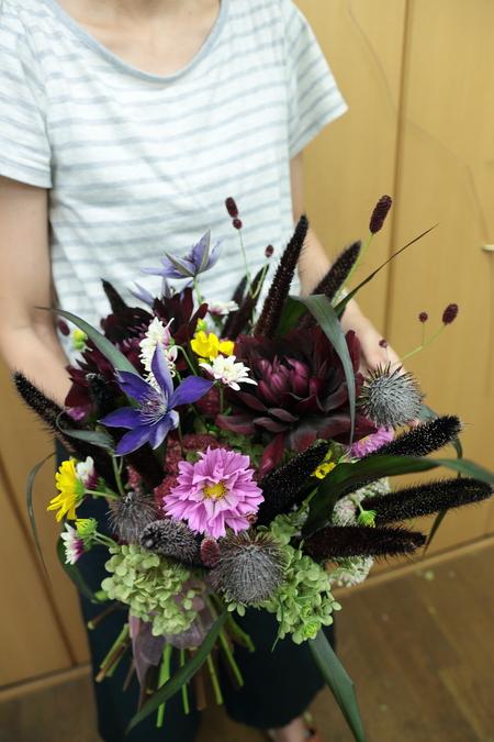 一会定期スクール 9月、秋の花のブーケ 登録生徒さん募集のお知らせ_a0042928_239578.jpg